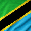 Ruffled Tanzania Flag — Stock Photo