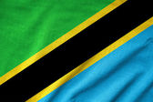 Ruffled Tanzania Flag — Stock Photo