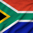 Ruffled South Africa Flag — Stock Photo
