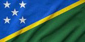 Ruffled Solomon Islands Flag — Stock Photo