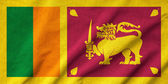 Ruffled Sri Lanka Flag — Stock Photo