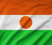 Ruffled Niger Flag — Stock Photo