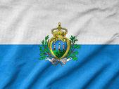 Ruffled San Marino Flag — Stock Photo