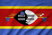 Ruffled Swaziland Flag — Stock Photo