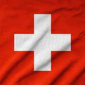Ruffled Switzerland Flag — Stock Photo
