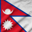 Ruffled Nepal Flag — Stock Photo