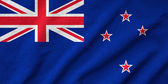 Ruffled New Zealand Flag — Stock Photo