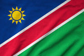 Ruffled Namibia Flag — Stock Photo