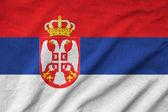 Ruffled Serbia Flag — Stock Photo