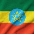 Ruffled Ethiopia Flag — Stock Photo