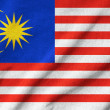 Ruffled Malaysia Flag — Stock Photo