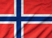 Ruffled Norway Flag — Stock Photo