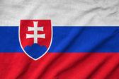 Ruffled Slovakia Flag — Stock Photo