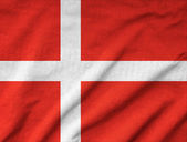 Ruffled Denmark Flag — Stock Photo