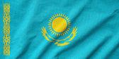 Bandeira do cazaquistão de babados — Fotografia Stock