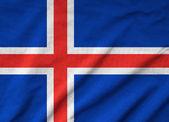 Ruffled Iceland Flag — Stock Photo