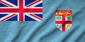 Ruffled Fiji Flag — Stock Photo