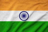 Ruffled India Flag — Stock Photo