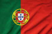 Ruffled Portugal Flag — Stock Photo