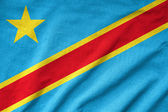 Ruffled congo Flag — Stock Photo