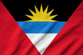 Ruffled Antigua and Barbuda Flag — Stock Photo