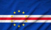 Ruffled Cape Verde Flag — Stock Photo