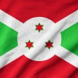 Ruffled Burundi Flag — Stock Photo