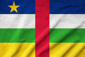 Ruffled Central African Republic Flag — Stock Photo
