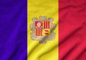 Ruffled Andorra Flag — Stock Photo