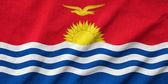 Ruffled Kiribati Flag — Stock Photo