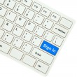 Wording Sign in on computer keyboard isolated on white backgroun — Stock Photo