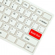 Wording Sold Out on computer keyboard isolated on white backgrou — Stock Photo