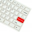 Wording Sold Out on computer keyboard isolated on white backgrou — Stock Photo #35234895