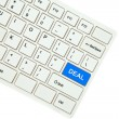 Wording Deal on computer keyboard isolated on white background — Stock Photo