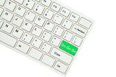 Formuleringen gå gå gå på datorns tangentbord isolerad på vit backgro — Stockfoto