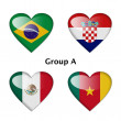 Stock Photo: Group A, Brazil, Croatia, Mexico and Cameroon