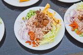 Braten, reis mit den garnelen paste, thai-food — Stockfoto