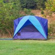Stock Photo: Camping tent in the mountains