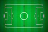 Piłka nożna pole układ — Zdjęcie stockowe
