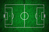 Soccer field layout on green grass background — Stock Photo