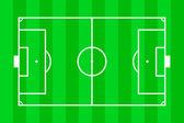 サッカーのフィールドのレイアウト — ストック写真