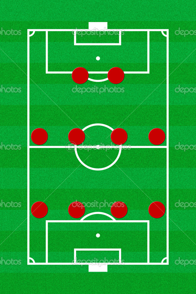 soccer field layout with formation       stock photo © pinkblue    soccer field layout   formation       photo by pinkblue