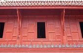 Окно храма в Таиланде — Стоковое фото