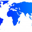 Stock Photo: High quality blue map of the World