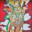 Chinese Warrior Deity Mural — Stock Photo #38567229