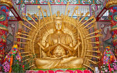 Ten thousand hands buddha statue in Thailand — Stock Photo