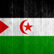 Western Sahara Flag on wood background — Stock Photo