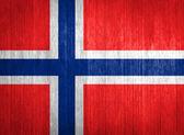 Norway Flag on wood background — Stock Photo