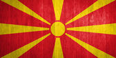 Macedonia Flag on wood background — Stock Photo