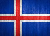 Iceland Flag on wood background — Stock Photo